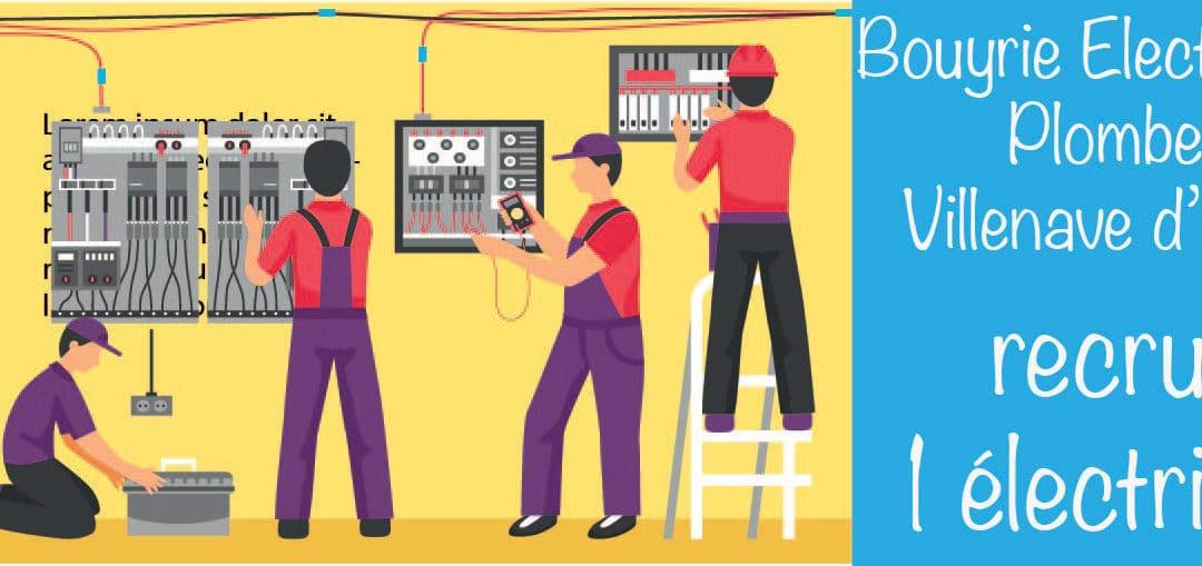 Électricien bâtiment en CDI